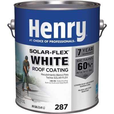 Henry Solar-Flex 1 Gal. White Acrylic Latex Elastomeric Roof Coating