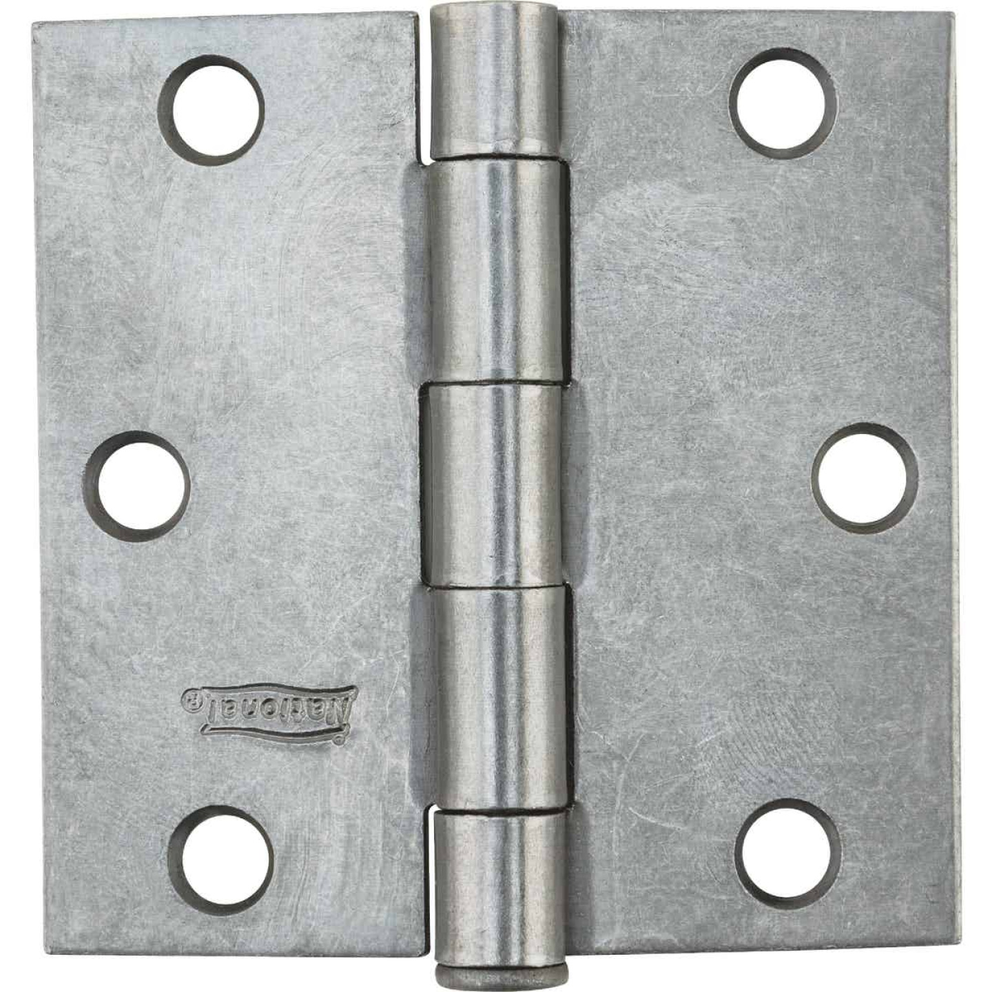 National 3 In. Square Plain Steel Broad Door Hinge Image 2