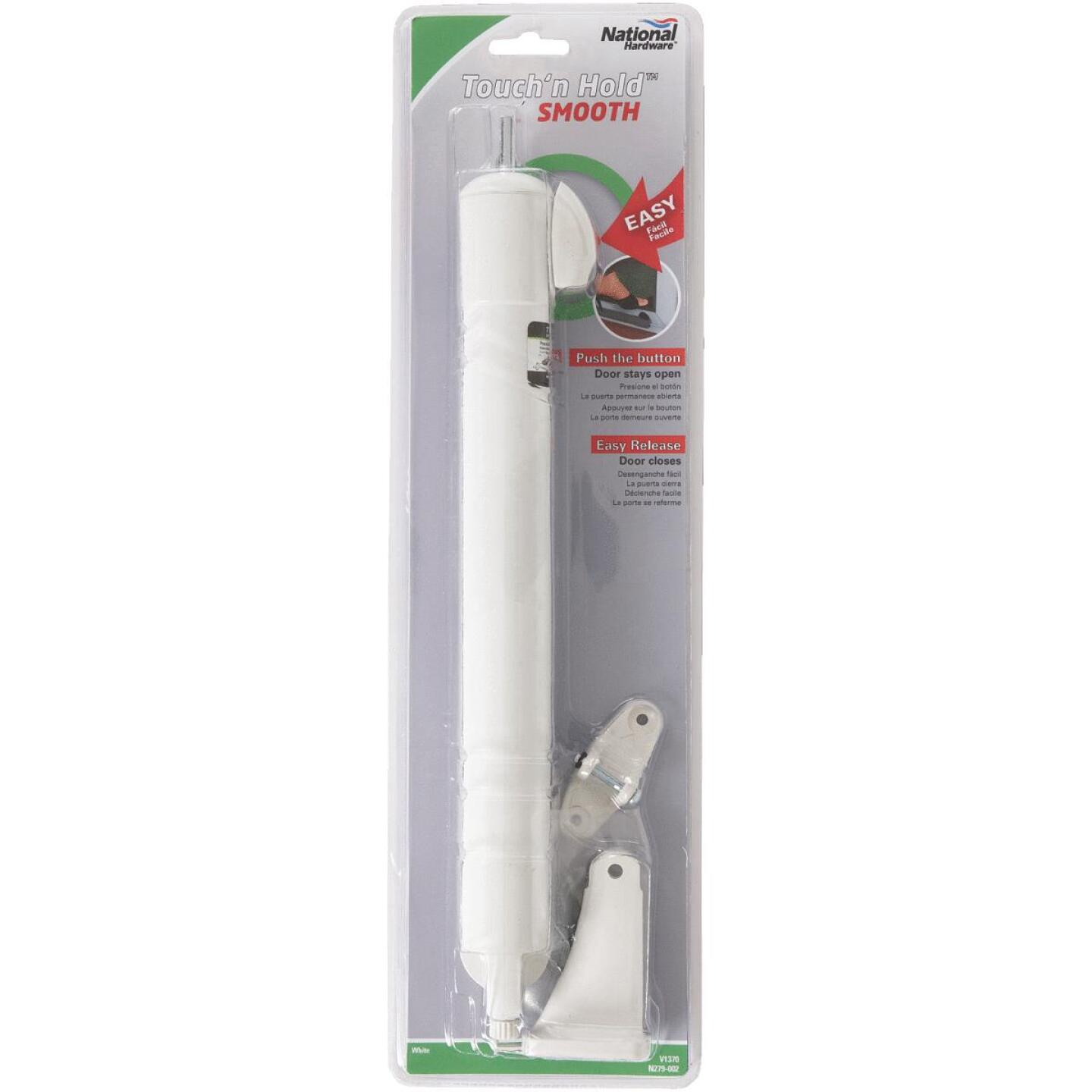 National White Touch'N Hold Smooth Screen Door Closer Image 2