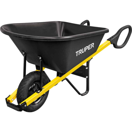 Truper Tru Grip 6 Cu. Ft. Poly Wheelbarrow