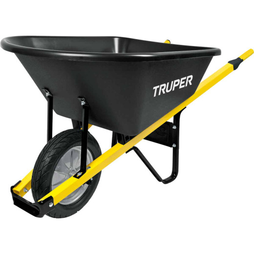 Truper Tru Tough 6 Cu. Ft. Poly Wheelbarrow