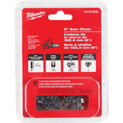 Milwaukee 6 In. Chainsaw Chain