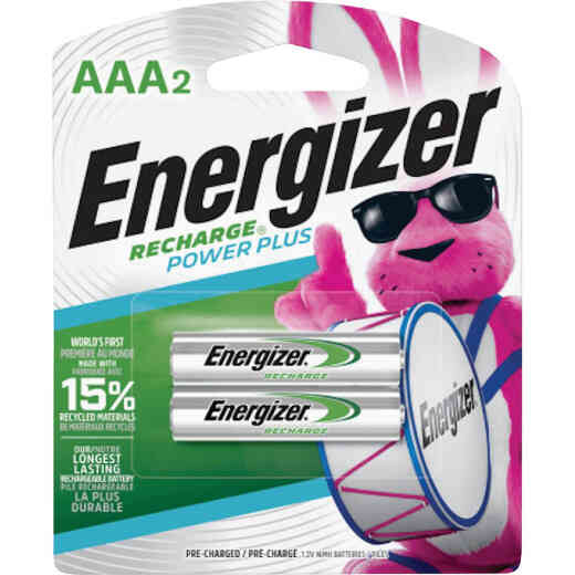 Energizer Recharge AAA NiMH Rechargeable Battery (2-Pack)