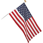 Valley Forge 3 Ft. x 5 Ft. Polycotton American Flag & 6 Ft. Pole Kit Image 4