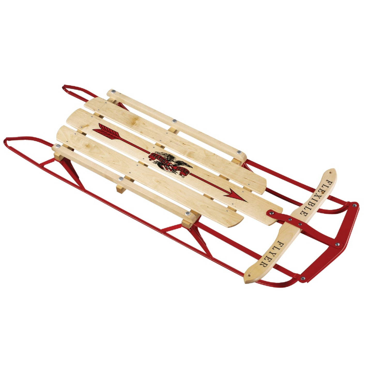 Flexible Flyer Wood & Steel 48 in. Snow Sled Image 1